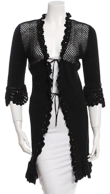 Preload https://item1.tradesy.com/images/chanel-black-crochet-accented-cardigan-size-2-xs-21258390-0-1.jpg?width=400&height=650