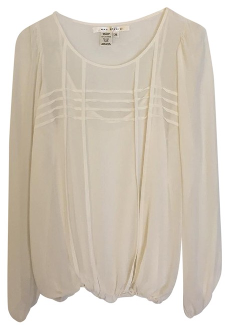 Preload https://item2.tradesy.com/images/max-studio-off-white-silky-blouse-size-2-xs-21258411-0-1.jpg?width=400&height=650