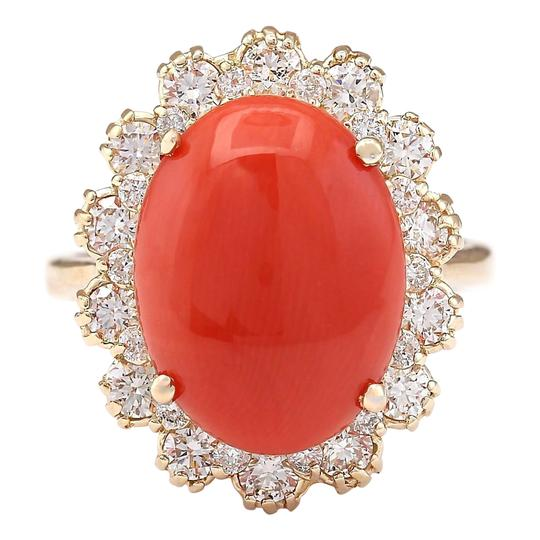 Preload https://img-static.tradesy.com/item/21258477/red-798-carat-natural-coral-14k-yellow-gold-diamond-ring-0-0-540-540.jpg