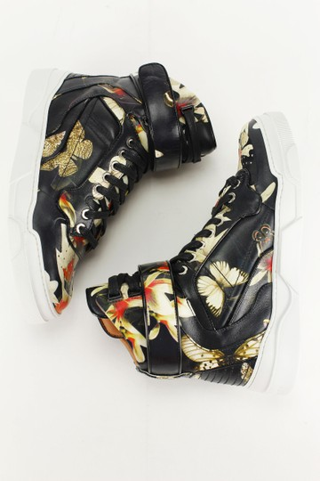 Givenchy High Top Lace Up Floral Pattern Multi-Color Athletic