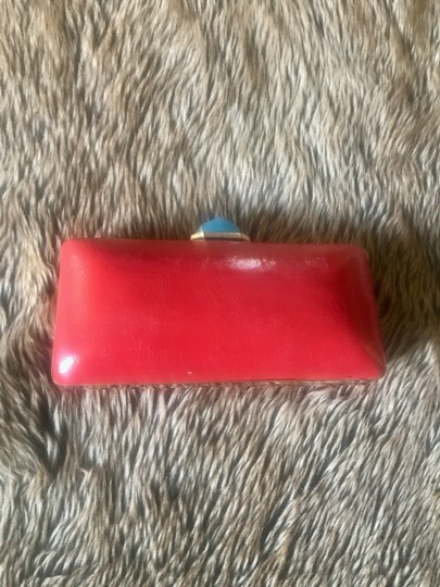 Banana Republic Trina Turk Leather red Clutch