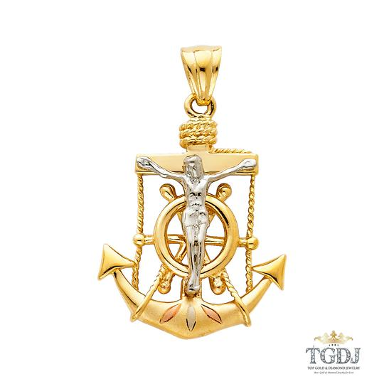 Preload https://item2.tradesy.com/images/tri-color-religious-crucifix-anchor-pendant-charm-21258496-0-0.jpg?width=440&height=440