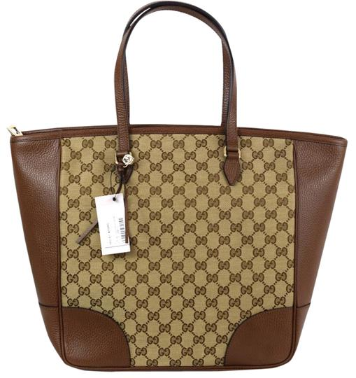 Preload https://item5.tradesy.com/images/gucci-449242-monogram-browntan-leather-and-gg-patern-cloth-tote-21258509-0-1.jpg?width=440&height=440