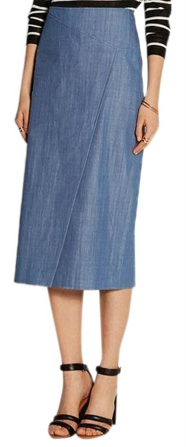 Preload https://img-static.tradesy.com/item/21258518/tibi-blue-chambray-denim-pencil-skirt-size-2-xs-26-0-1-650-650.jpg