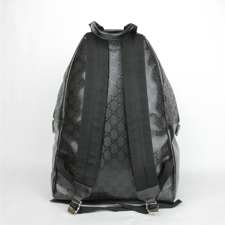 fa446428940a Gucci Gg with Front Pocket 246414 Black Imprime Leather Backpack - Tradesy