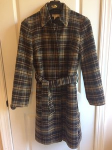 J.Crew Wool Plaid Trench Trench Coat