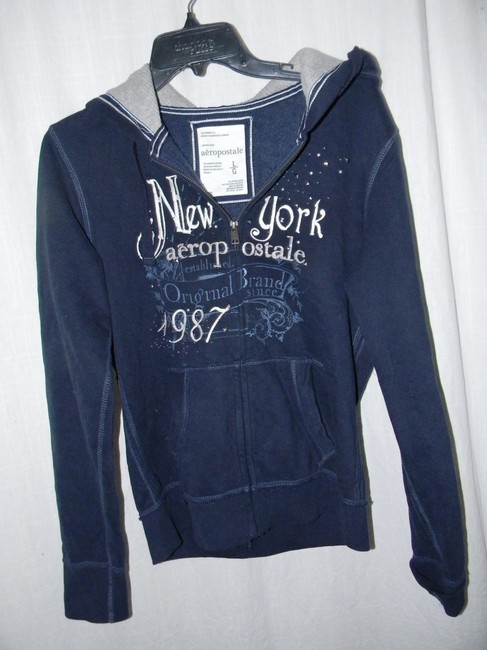 Preload https://item5.tradesy.com/images/aeropostale-blue-silver-metal-studs-graphics-activewear-hoodie-size-12-l-32-33-21258594-0-0.jpg?width=400&height=650