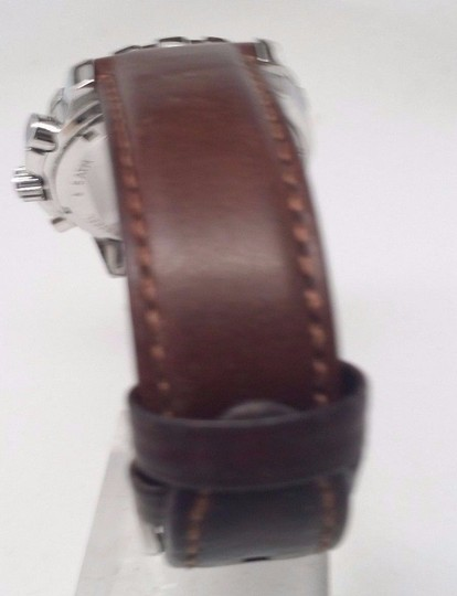 Fossil M ens FS4828 Chronograph Stainless Steel Watch With Brown FOR PARTS!!!
