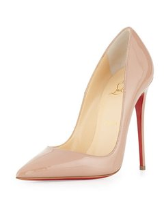 Christian Louboutin Patent Leather Louboutin Stiletto Nude Pumps