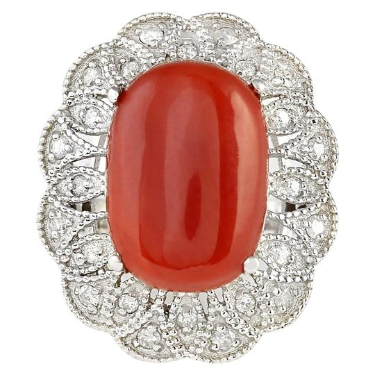 Preload https://img-static.tradesy.com/item/21258609/907-ctw-natural-coral-and-diamond-in-14k-white-gold-ring-0-0-540-540.jpg