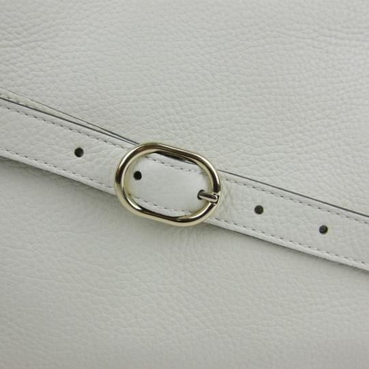 Gucci Bamboo Shopper Leather Satchel in White