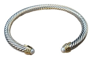 David Yurman Cable Classics Bracelet with Fresh Water Pearls and Gold