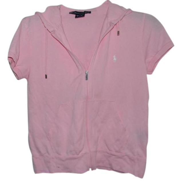 Preload https://img-static.tradesy.com/item/21258725/ralph-lauren-pink-short-sleeve-polo-hoodie-activewear-size-6-s-0-2-650-650.jpg