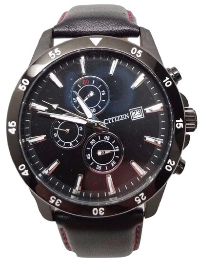 Citizen AN3575-03E Mens Analog Display Japanese Quartz Black Watch BROKEN!!