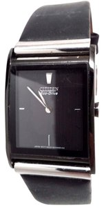 Citizen Men's BL6005-01E Black Leather Quartz Watch BROKEN!!!