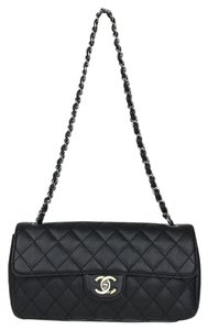 Chanel Caviar Leather East West Flap Shoulder Bag