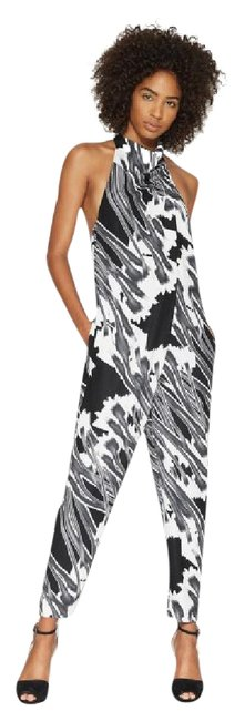 Preload https://item4.tradesy.com/images/halston-black-white-and-gray-halter-neck-graphic-pint-mid-length-romperjumpsuit-size-6-s-21258798-0-1.jpg?width=400&height=650