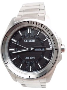Citizen MEN ECO DRIVE STAINLESS STEEL DAY DATE 100m AW0030-55E BROKEN!!!