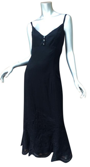 Preload https://img-static.tradesy.com/item/21258843/ralph-lauren-black-turquoise-button-detail-long-casual-maxi-dress-size-14-l-0-2-650-650.jpg