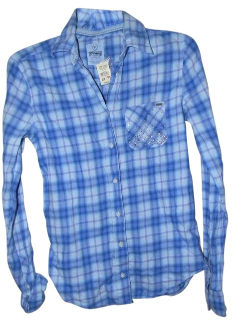 Preload https://img-static.tradesy.com/item/21258848/victoria-s-secret-blue-plaid-rhinestone-decor-shirt-button-down-top-size-2-xs-0-1-650-650.jpg