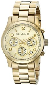 Michael Kors Kors MK5055 Gold Runway Ladies Chronograph Watch