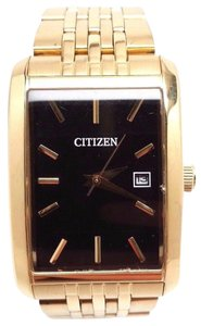 Citizen Men's Dress Gold Tone Stainless Steel Bracelet Watch BH1673-50E