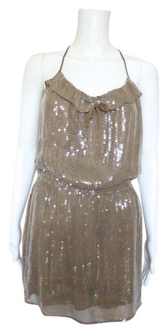 Preload https://img-static.tradesy.com/item/21258885/parker-brown-sequin-short-night-out-dress-size-4-s-0-1-650-650.jpg