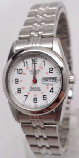 Ladies C itizen Quartz. Numbers Dial Stainless Watch With Date EQ0510-58A BROKE