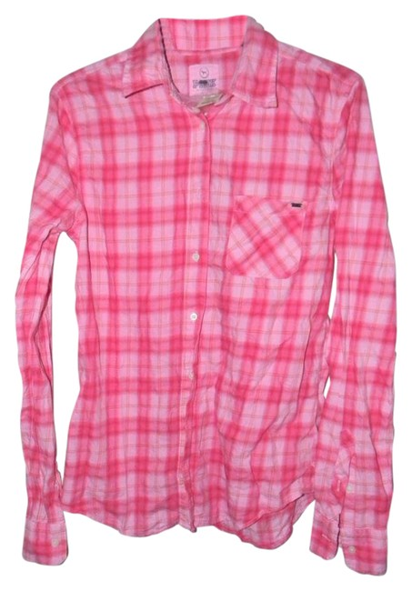Preload https://item3.tradesy.com/images/victoria-s-secret-pink-plaid-shirt-button-down-top-size-6-s-21258902-0-2.jpg?width=400&height=650