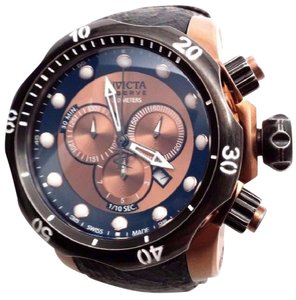Mens Inv icta 15987 Venom Swiss Chronograph Leather Strap Mens Watch