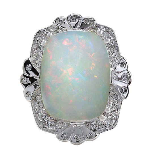 Preload https://img-static.tradesy.com/item/21258924/multicolor-892-carat-natural-opal-14k-white-gold-diamond-ring-0-0-540-540.jpg