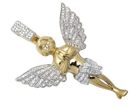 Other 2 Inch Praying Hands Angel Genuine Diamond Pendant Charm 0.75ct.