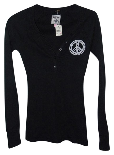 Preload https://item4.tradesy.com/images/victoria-s-secret-black-cotton-studded-peace-henley-tunic-size-2-xs-21259013-0-1.jpg?width=400&height=650