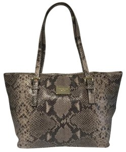 Michael Kors Handbag Jet Set Travel Python Tote in Dark Sand