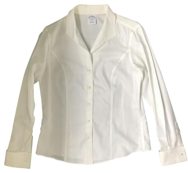 Preload https://item2.tradesy.com/images/brooks-brothers-white-crisp-semi-fitted-non-iron-cotton-interview-shirt-button-down-top-size-8-m-21259081-0-1.jpg?width=400&height=650