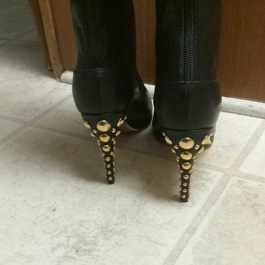 Pookie and Sebastian Black With Gold Boots
