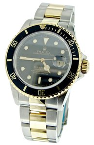 Rolex Mens Rolex Two-Tone 18K/SS Submariner Black 16803