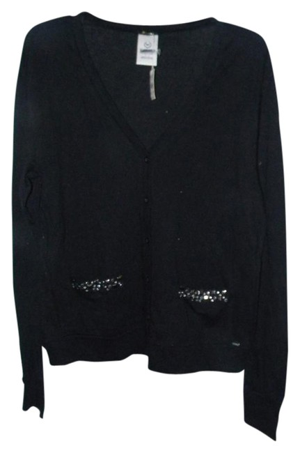 Preload https://img-static.tradesy.com/item/21259111/victoria-s-secret-black-95-cotton-5-spandex-studded-pockets-cardigan-size-6-s-0-1-650-650.jpg