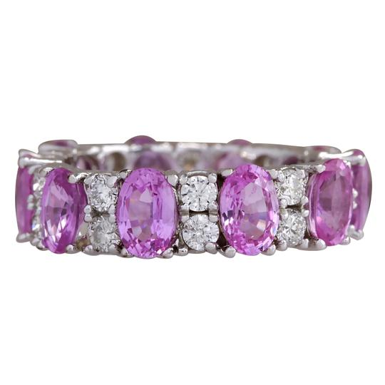 Preload https://img-static.tradesy.com/item/21259149/pink-771-carat-natural-ceylon-sapphire-14k-white-gold-diamond-ring-0-0-540-540.jpg