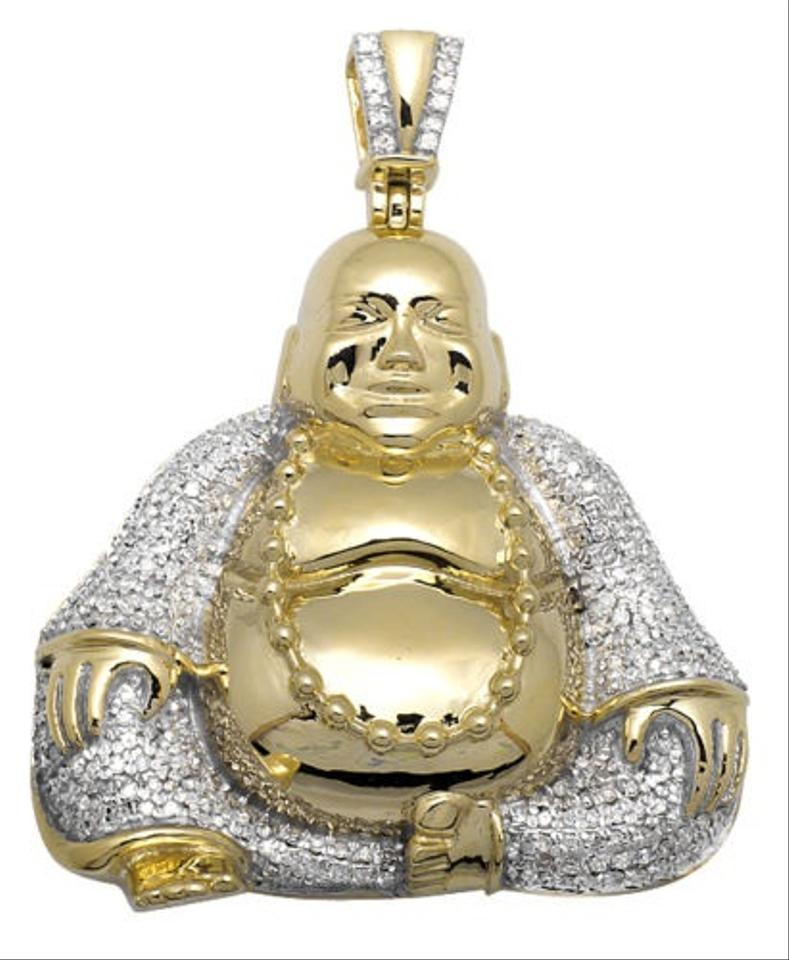 10k yellow gold laughing buddha wisdom pearl 175 diamond 10k yellow gold laughing buddha wisdom pearl 175 diamond pendant 25ct charm tradesy aloadofball Image collections