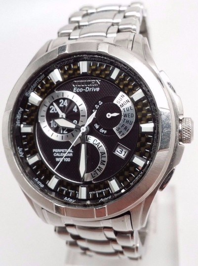 Citizen ECO-DRIVE WATCH for MEN Perpetual Calendar Alarm BL8090-51E