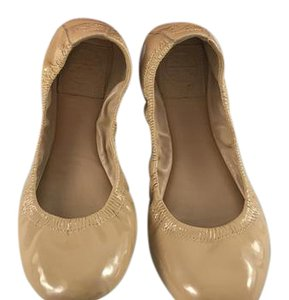 Tory Burch Patent Leather Ballet Classic camel Flats