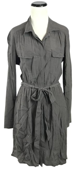 Preload https://item2.tradesy.com/images/broadway-and-broome-dark-brown-gray-button-down-belted-mid-length-workoffice-dress-size-4-s-21259196-0-3.jpg?width=400&height=650