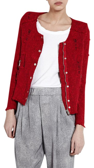 Preload https://img-static.tradesy.com/item/21259204/iro-red-agnette-distressed-tweed-jacket-size-6-s-0-1-650-650.jpg