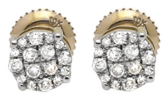 Preload https://item2.tradesy.com/images/10k-yellow-gold-6mm-round-halo-cluster-genuine-diamond-stud-040ct-earrings-21259216-0-0.jpg?width=440&height=440