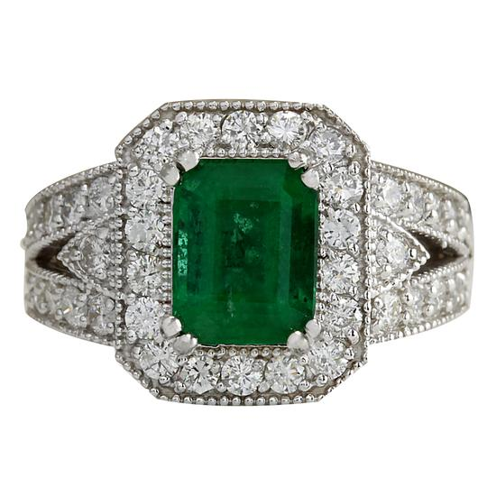 Preload https://img-static.tradesy.com/item/21259217/323ctw-natural-colombian-emerald-and-diamond-14k-solid-white-gol-ring-0-0-540-540.jpg