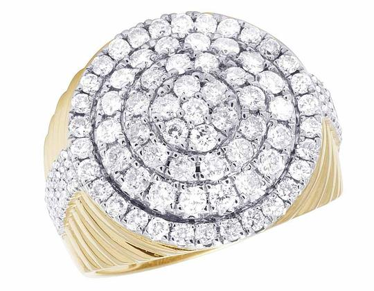 Preload https://item2.tradesy.com/images/10k-yellow-gold-men-s-real-diamond-round-cluster-pinky-2-35-ct-2-ring-21259226-0-0.jpg?width=440&height=440