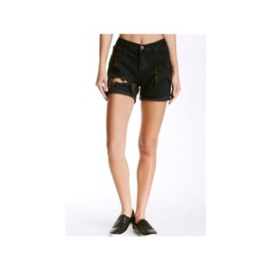 One Teaspoon Cuffed Shorts black