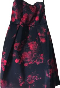 Lord & Taylor Floral Pockets Strapless Dress