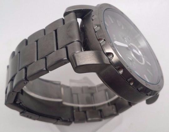 Fossil J R1437 Men's Nate Chronograph Gray Dial Stainless Steel Push Button Bro